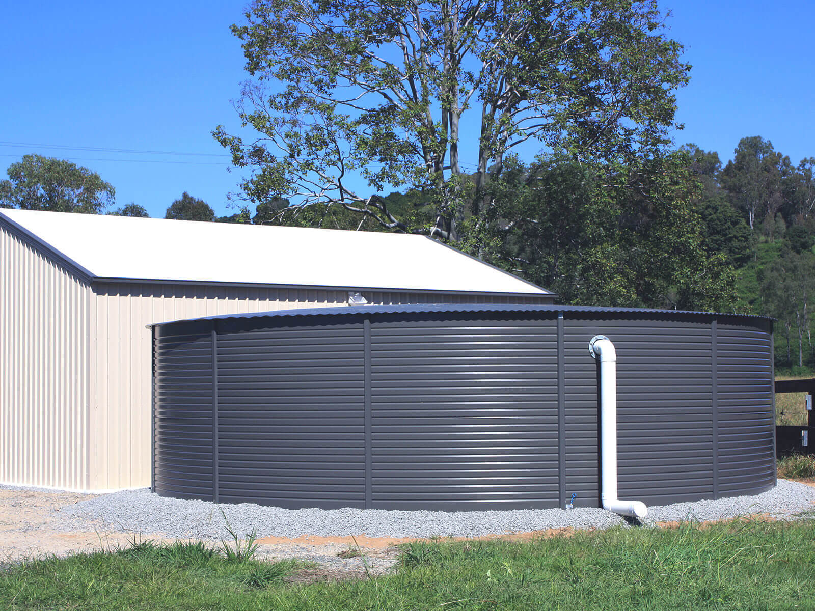 Huckleberry Tanks & Sheds - Steel Shed & Rain Water Storage Tanks